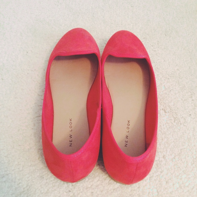 limited guantity hot sale online presenting New Look coral shoes, size 6, only been worn once so ...