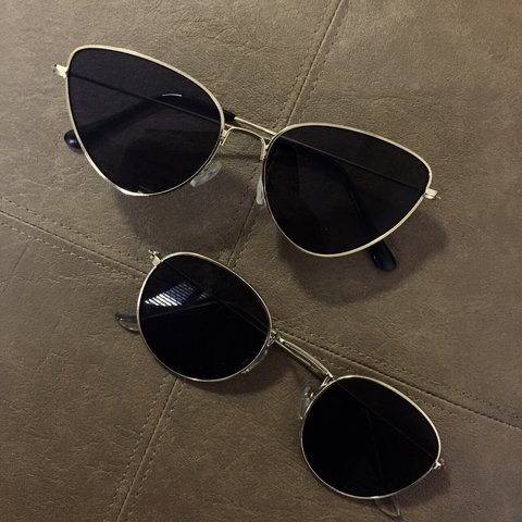 1632acb0b8 SUNGLASSES Rayban round metal dupe or Cateye style Both w  - Depop