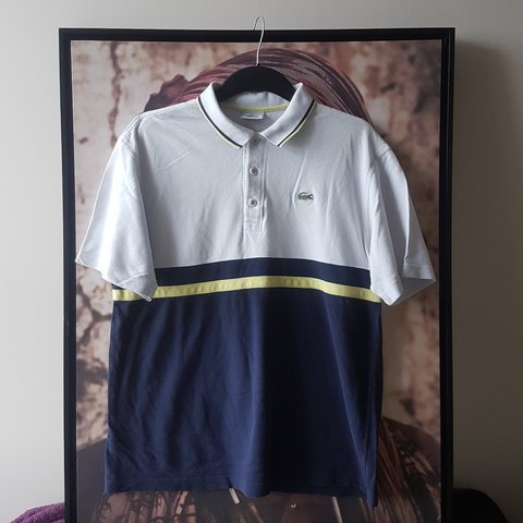 41fd19b2e Vintage Lacoste Polo Shirt Very unique piece Embroidered on - Depop