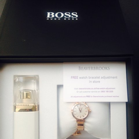 Unwanted Gift Hugo Boss Rose Gold Wristwatch With Perfume Depop