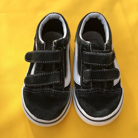 e836aca17a14ad Toddler size 7 Velcro vans in used condition  kidsshoes - Depop