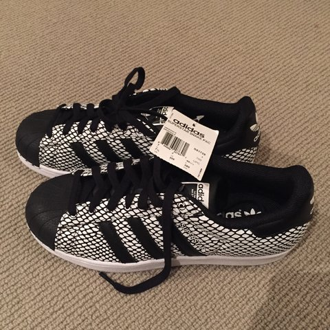 ca8ddfb6d08b Brand new never worn Adidas superstar snake shoes. So cool - Depop