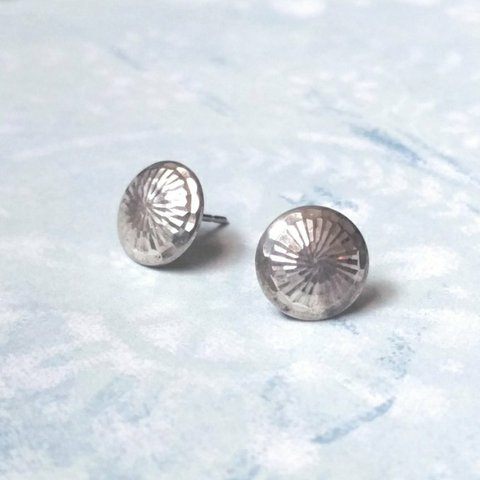 02287c597 @downabove. last year. United States. Sterling silver studs earrings.  Faceted round circle dome