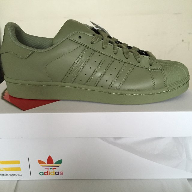 adidas superstar olive green pharrell