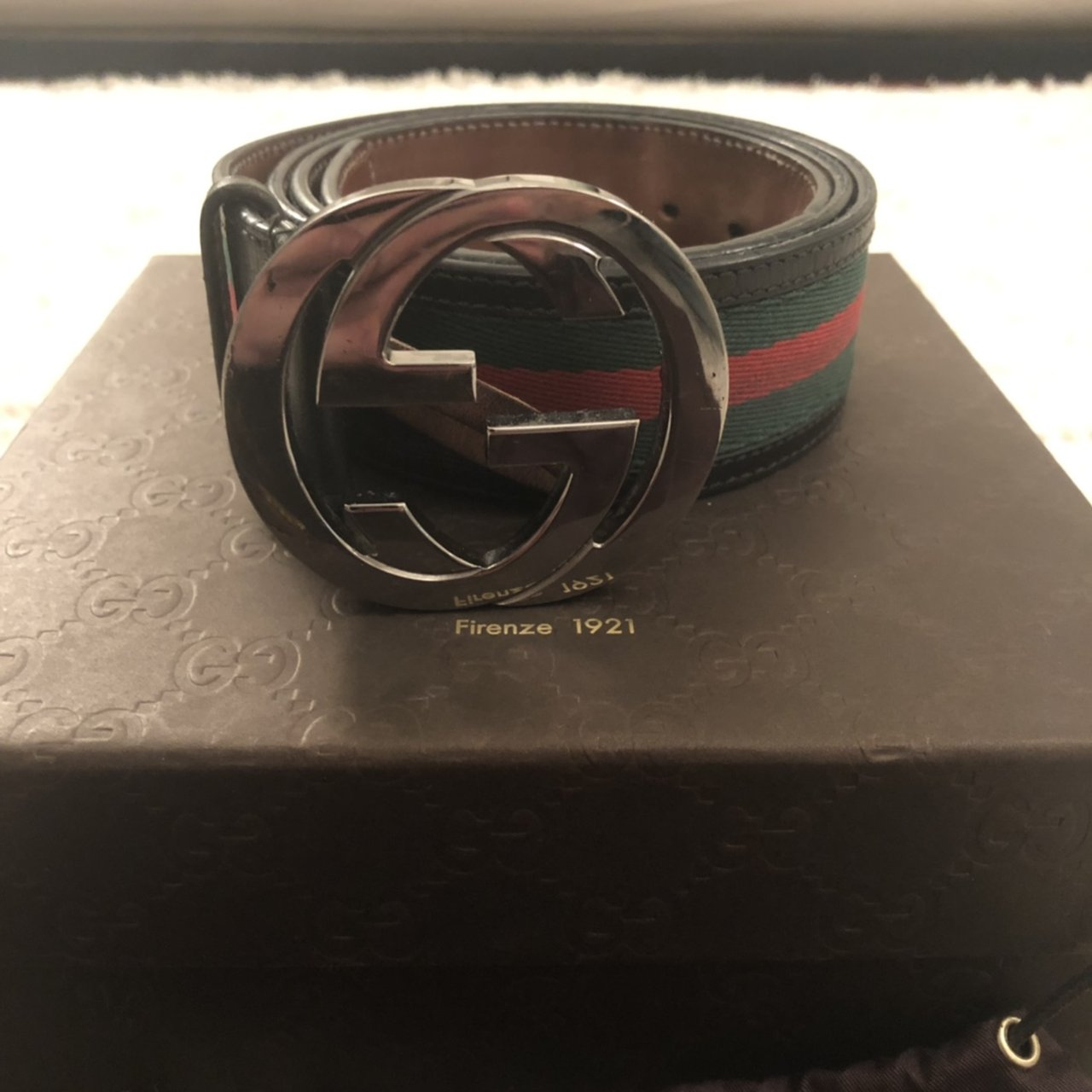 66c607a3151 Gucci Belt Size 95 Condition 8 10 New Price 280.-