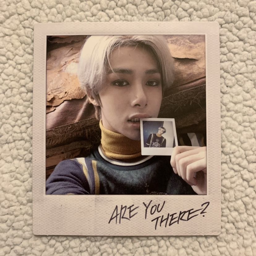 monsta x are you there? hyungwon polaroid + vlive    - Depop