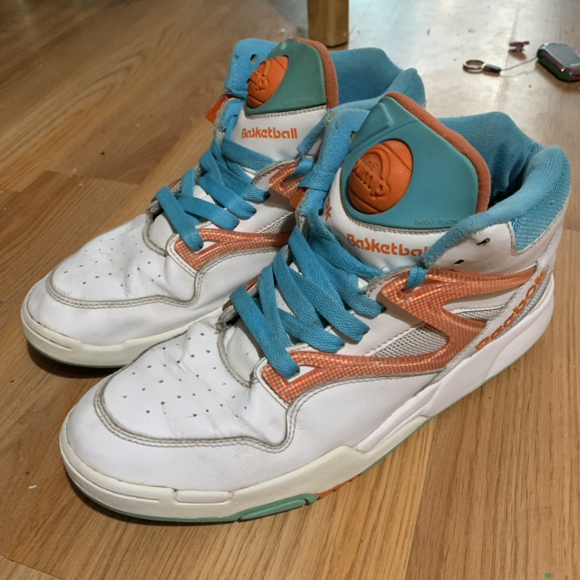 RARE VINTAGE REEBOK PUMPS HEXALITE BASKETBALL SHOES... - Depop
