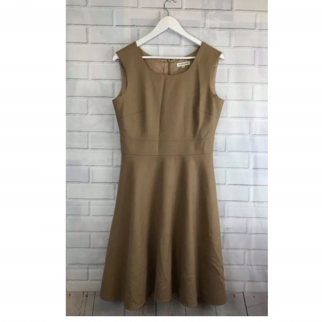 Austin Reed Camel Pure Wool Dress Size Uk Depop