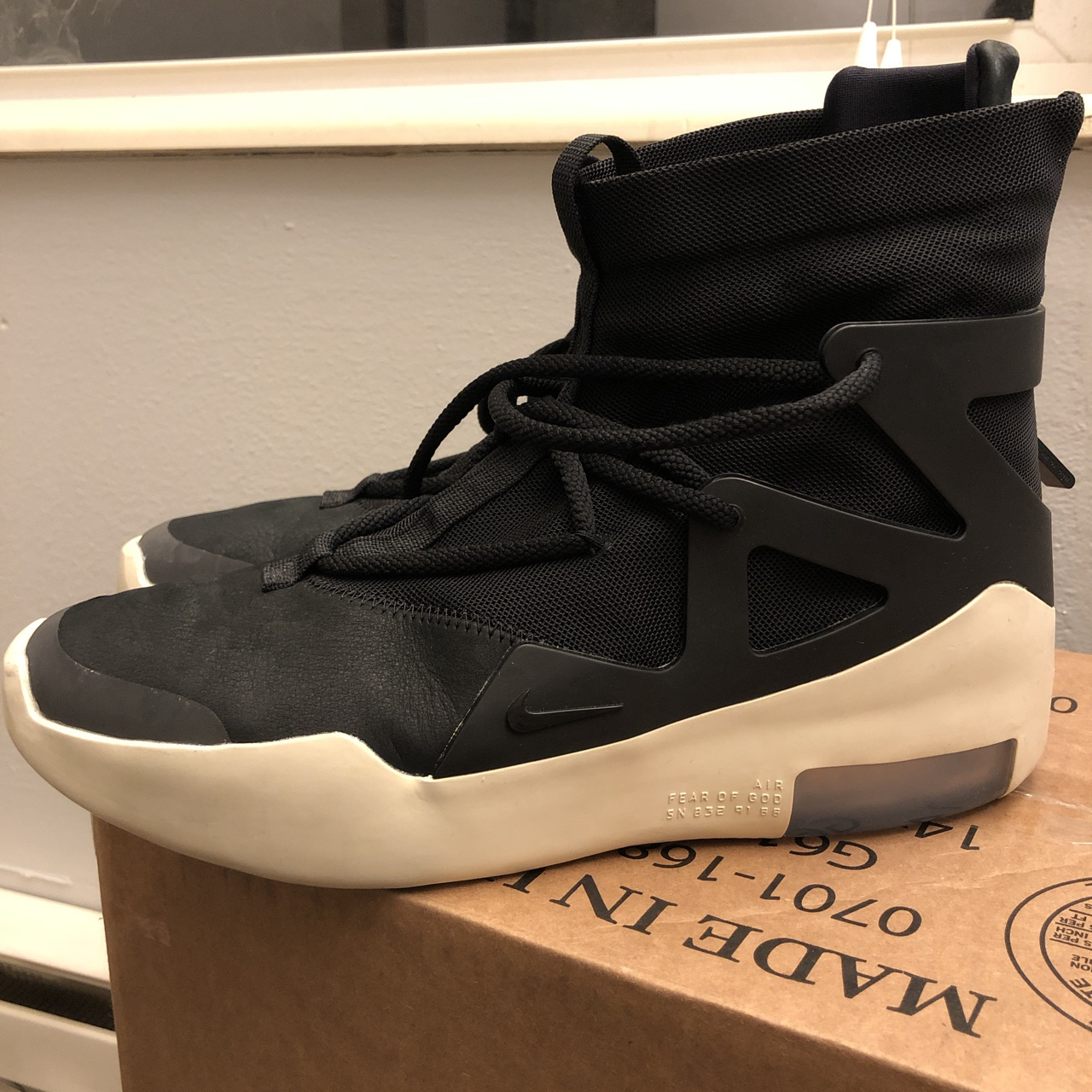 Nike Fear Of God Black Us 9 by Depop