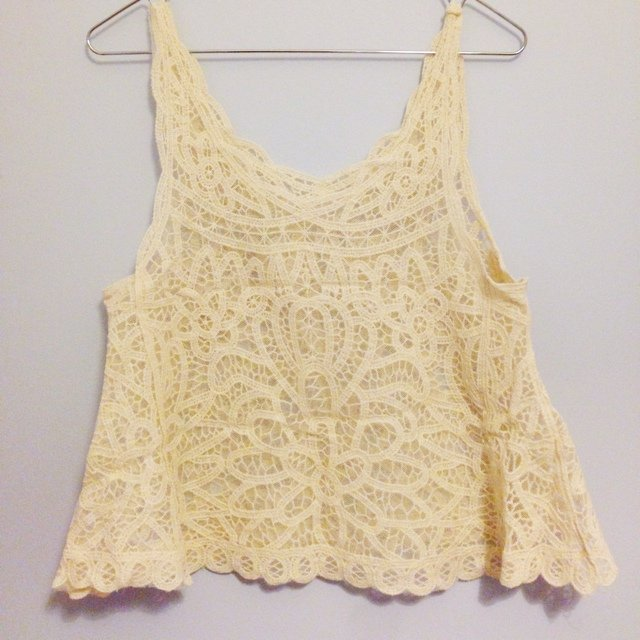 8f7a5de79a Cute and sexy lace see throw tank - Depop
