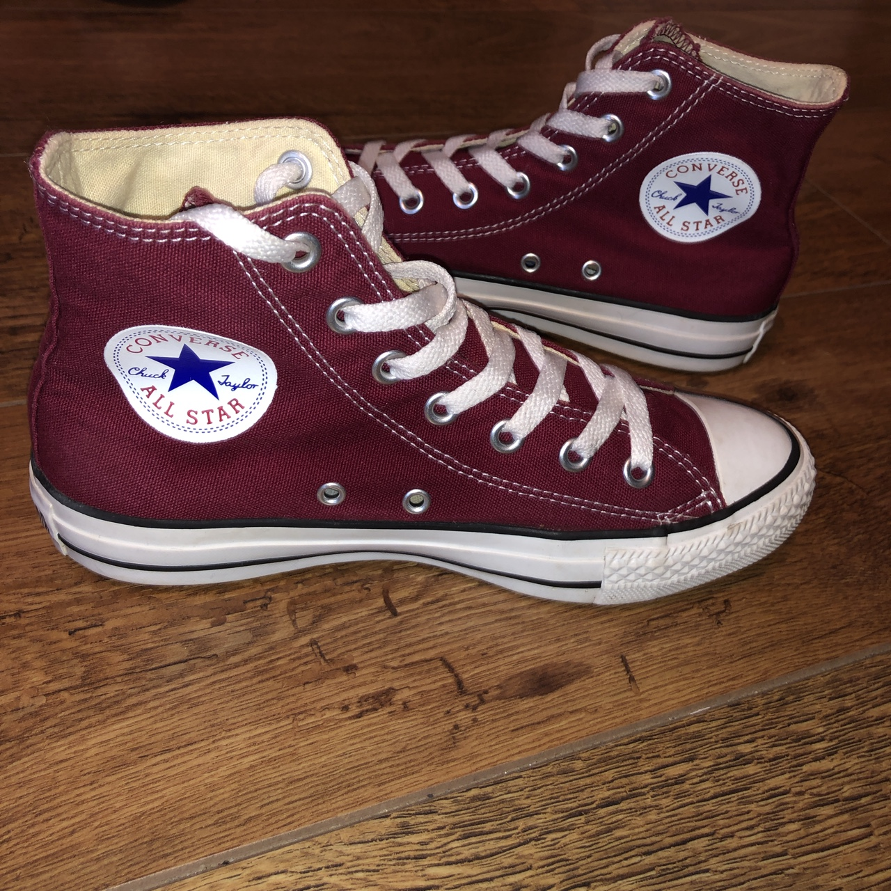 80b89f66785bf Converse Size 5 Lovely Plum Red Colour Fantastic... - Depop
