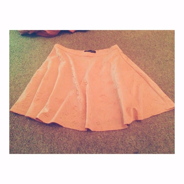 efee155a44 Misguided peach skater skirt. Size