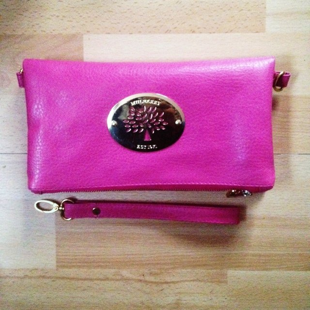26b541c0c18a Gorgeous replica Mulberry Hot pink clutch bag never used!! - Depop