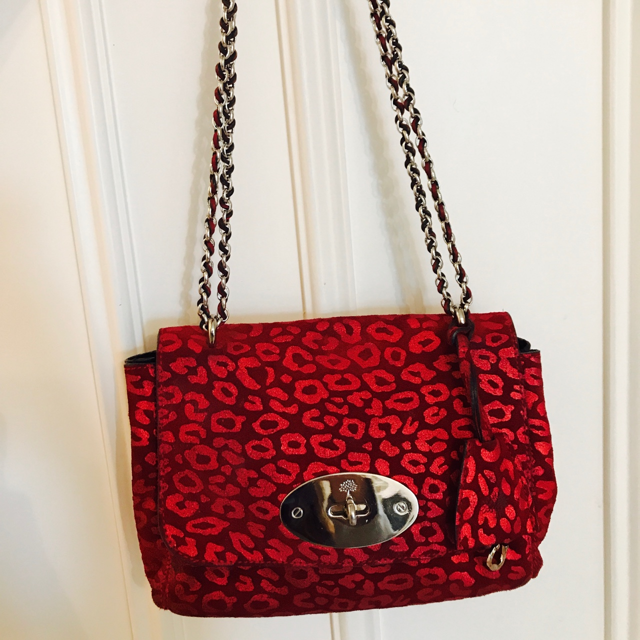 3ca72ecf29f2 PRICE REDUCTION** Mulberry Lily bag in red leopard print. - Depop
