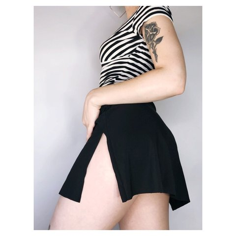 8a56c5831 @jessreddy. 9 months ago. Gilbert, United States. Double Slit Mini Skirt