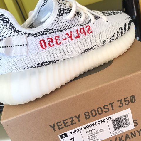 15fe6fa4cb355 BRAND NEW ZEBRA YEEZY V2. Size 7 100000% authentic. Have for - Depop