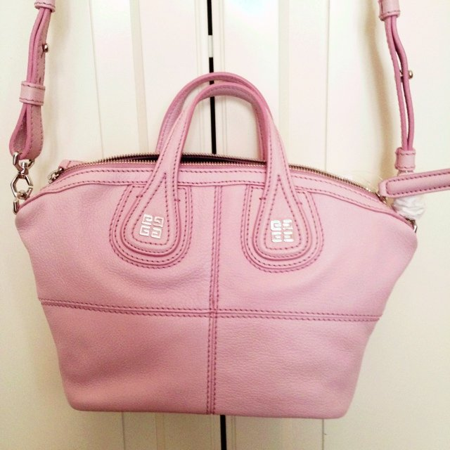 GIVENCHY micro Nightingale bag in leather baby pink silver - Depop be33aff04560e