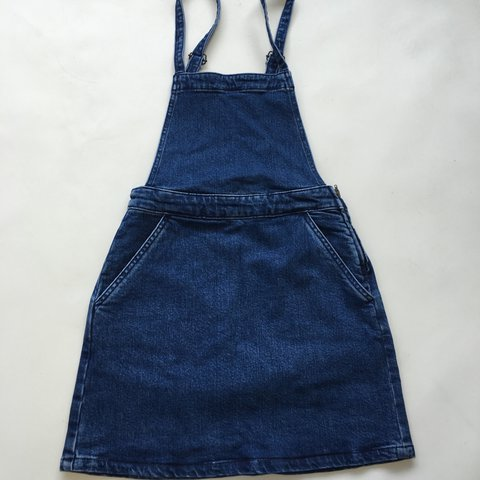 0a160d688cd Asos petite denim dungaree pinafore - Depop
