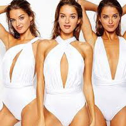 8d565f1ffa ASOS White multiway costume swimsuit one piece can be worn a - Depop
