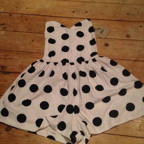 22d34af92b9 ASOS polka dot playsuit never been worn - still with tags ☺ - Depop