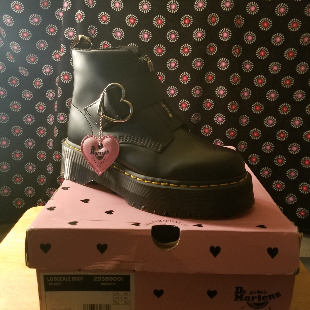 differently lower price with beauty NWT Dr. Martens x Lazy Oaf Buckle Boot (sold out on... - Depop