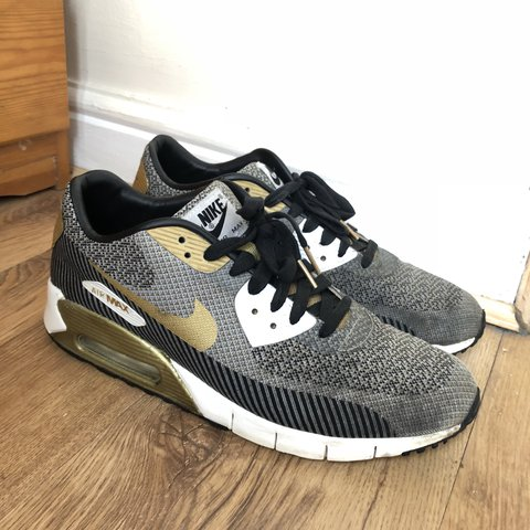 the best attitude 630eb 93dc2  dechetherington. last year. Manchester, United Kingdom. Nike Air Max 90  Jacquard Gold Trophy Pack