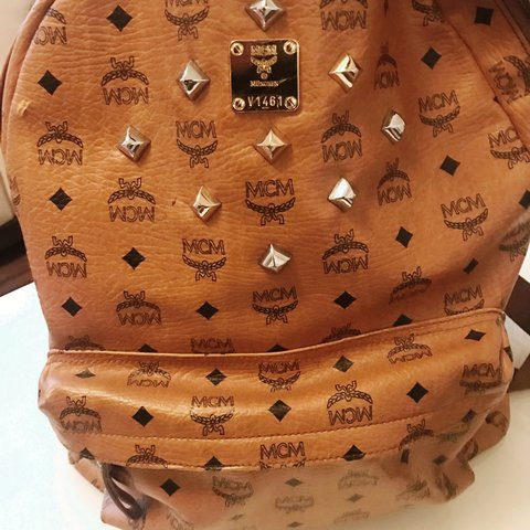 f22ca77308b53 Mcm back bag brown 5 years old good condition open to offers - Depop