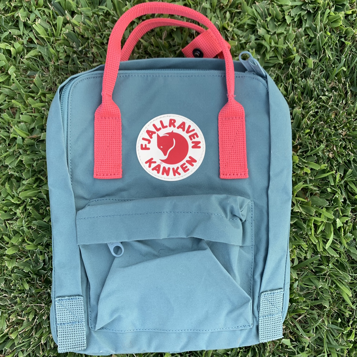 FJALLRAVEN Kanken Frost GreenPeach backpack