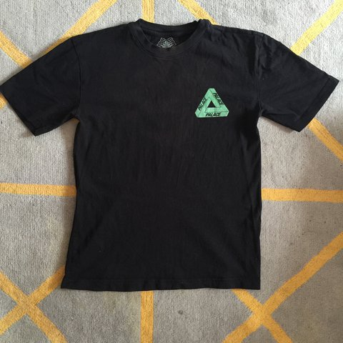 4e4d86a90203 palace tri line rasta t-shirt in black small. sold out in a - Depop