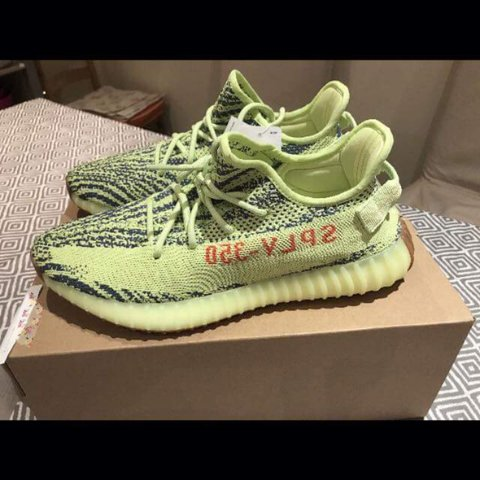 5a367f1054d0e ADIDAS YEEZY BOOST 350 V2 SEMI FROZEN YELLOW SIZE UK 11 with - Depop