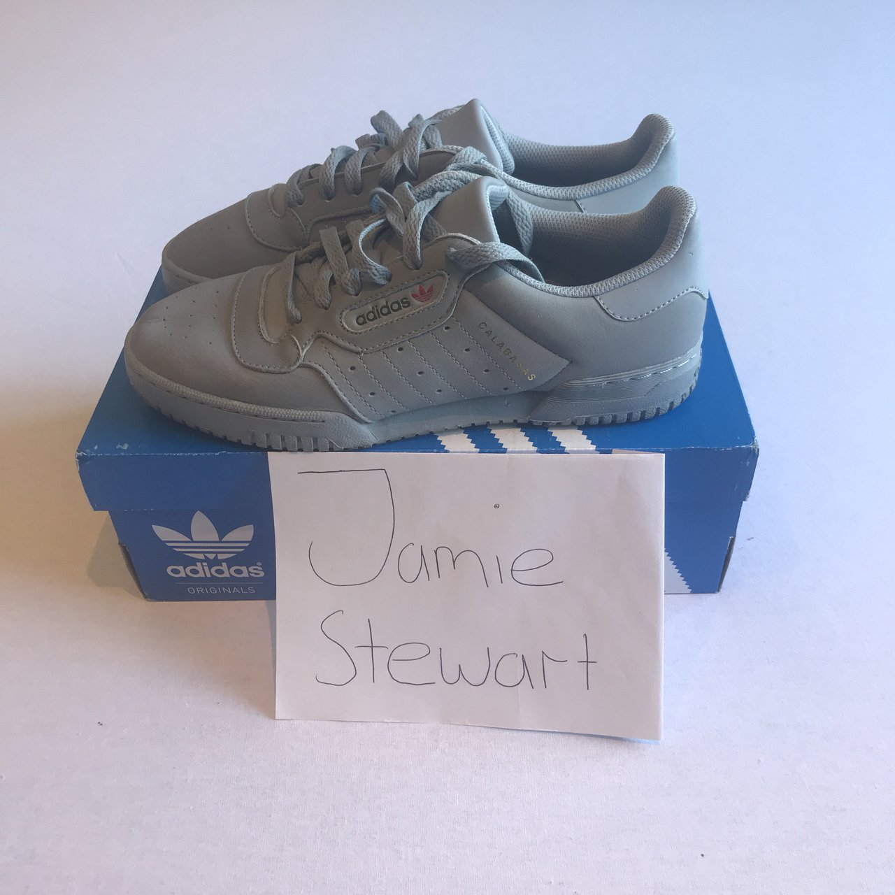 a1f1ed755d0 Adidas Yeezy Powerphase Grey Price  £65 + fees and 9 10 UK - Depop