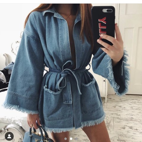 e16183dab @laura_andersonx. 3 months ago. Motherwell, United Kingdom. NA-KD fashion  denim blue kimono dress. Only worn once