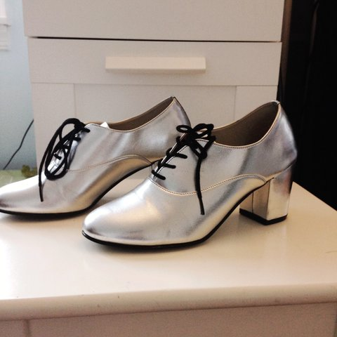 6310b4748d American Apparel Shoes in Silver Size 6.5 #AmericanApparel - Depop