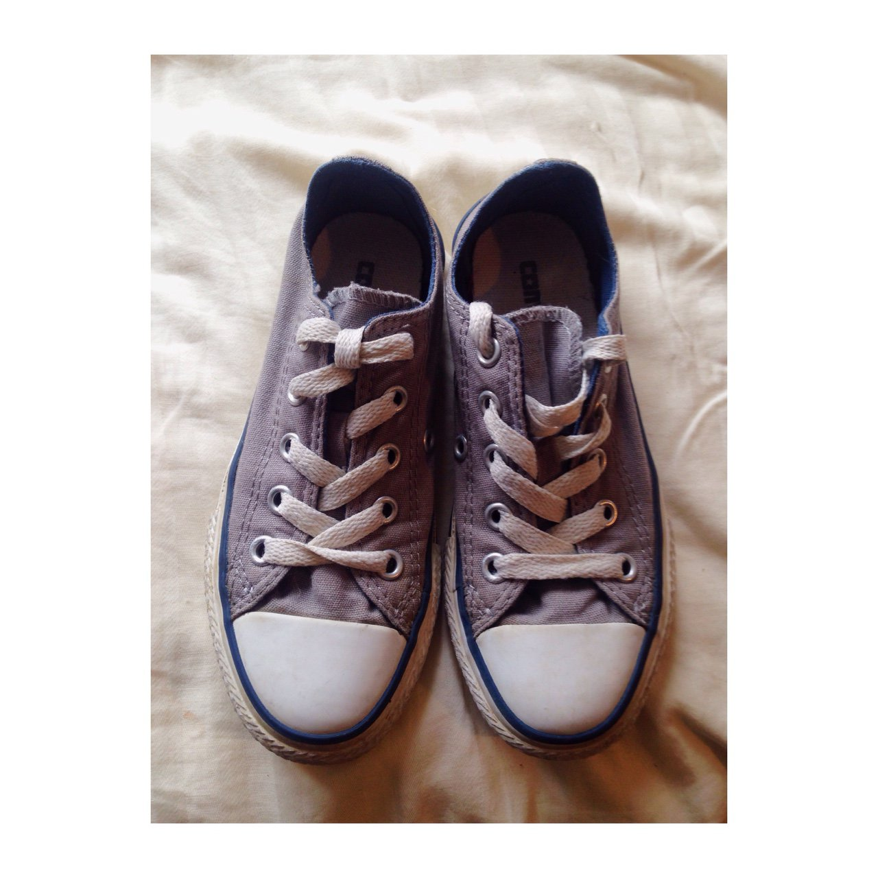 188b32a5af47 Grey Kids Converse size 11 and 1 2
