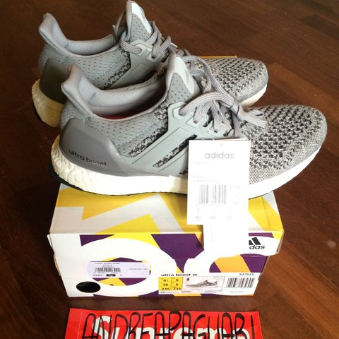 dfe048e807a Ultra Boost Wool Grey WMNS - DS ( Never Worn ) with OG Box - - Depop