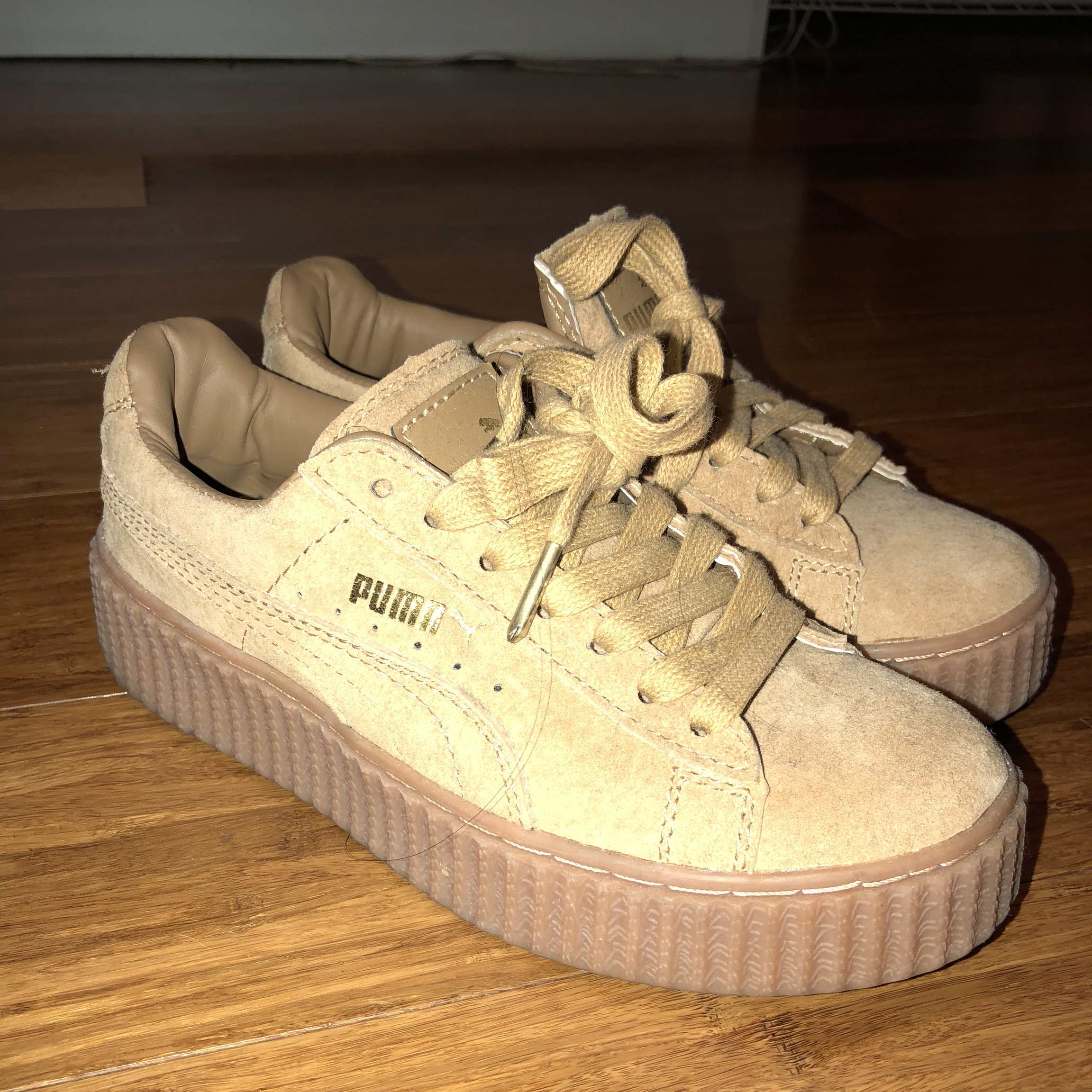 detailed look ce645 cde49 Super cute BL Rihanna Fenty creepers in tan suede!!!... - Depop