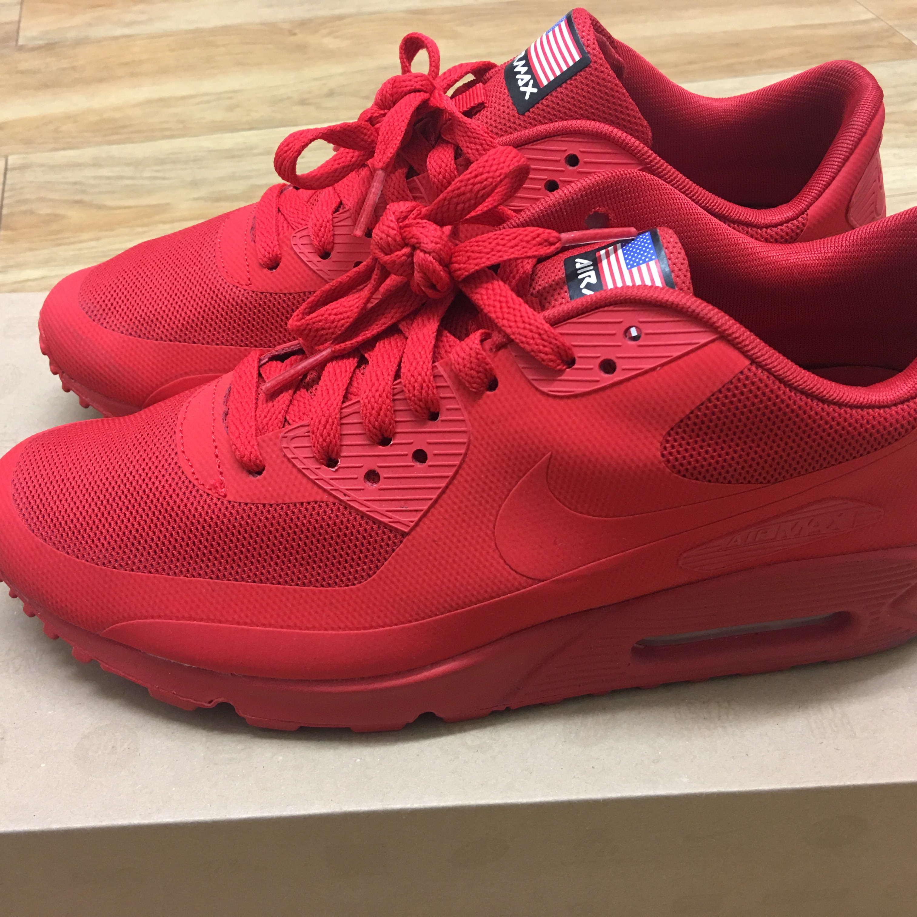 Nike Air Max 90 Hyperfuse 'Independence Day' Infrared Depop