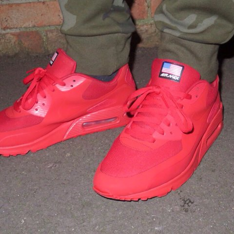 bf965865e611 Nike Air Max 90   Independence Day   Red QS • Condition - 10 - Depop