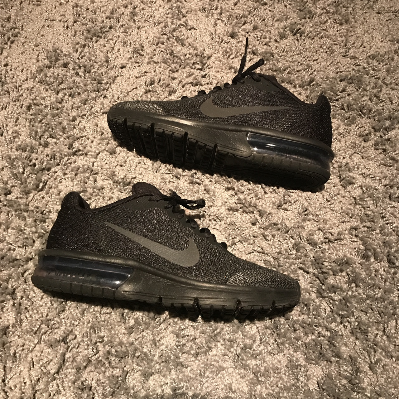 NIKE AIR MAX SEQUENT 2 (GS) BLACK ANTHRACITE Depop