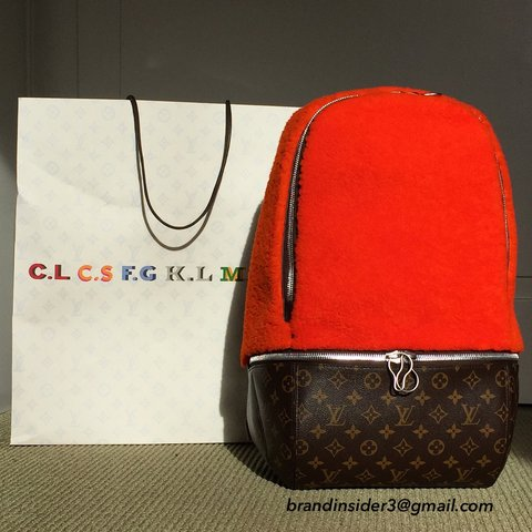 a324ccf0ea89  brandinsider3. 4 years ago. Louis Vuitton with Marc Newson shearling  backpack.