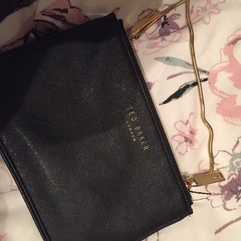 f7cfc5df5 Black gold chain ted baker bag