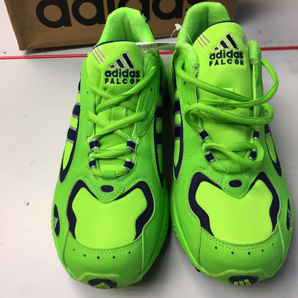 lime green adidas trainers