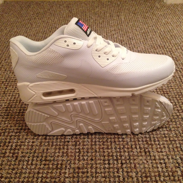 White Nike Air Max 90 Hyperfuse Independence Day Depop