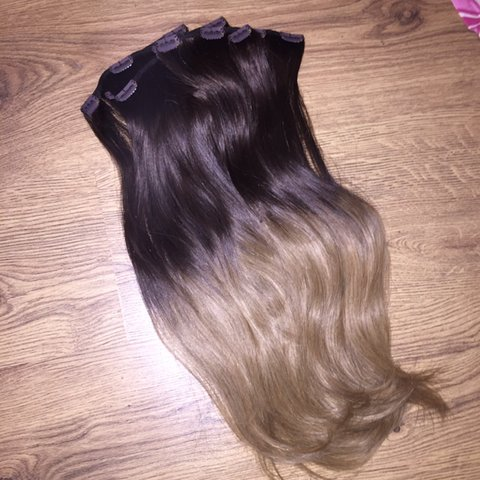New Foxylocks Hair Extensions Mocha Toffee Ombre 165g Depop