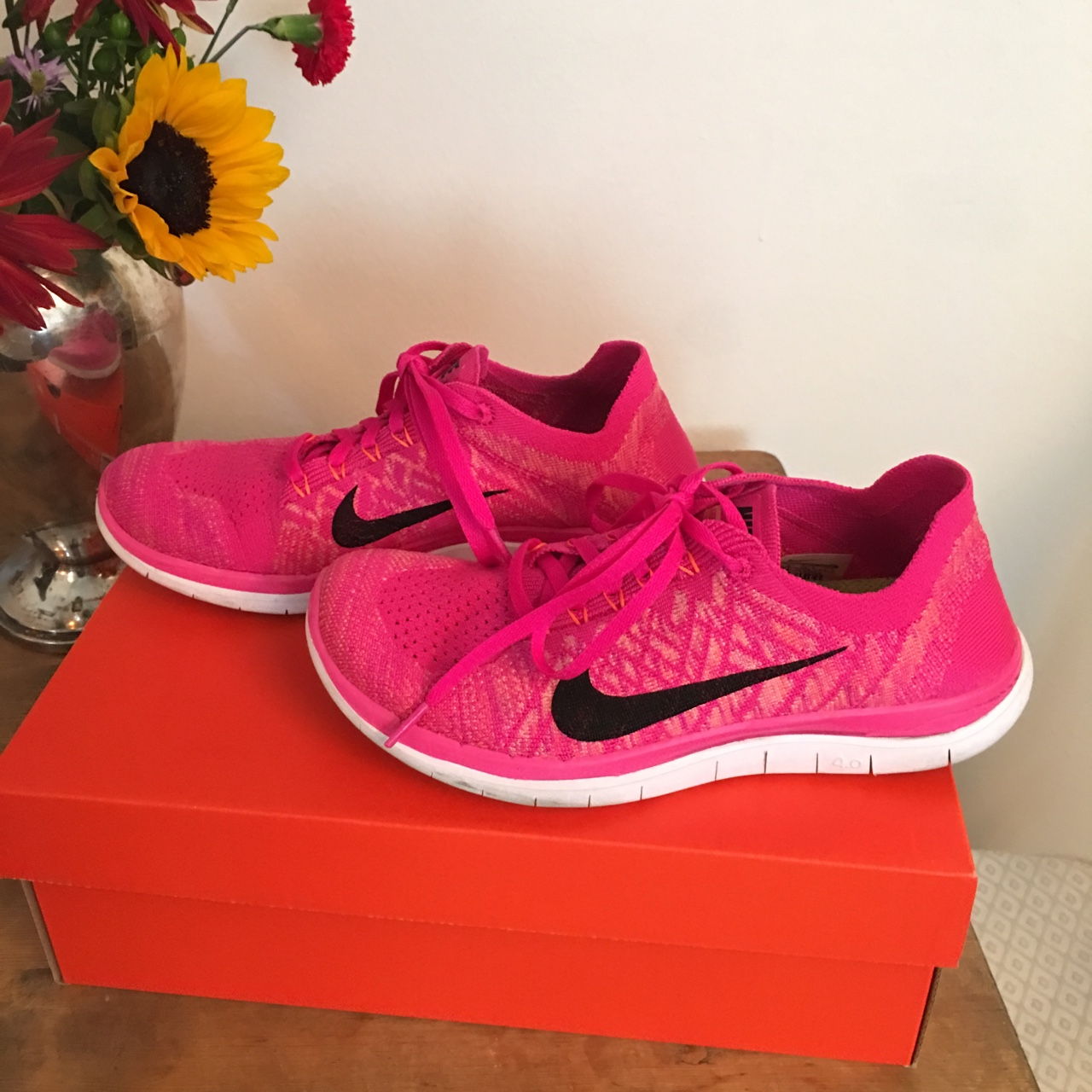 cheap look out for detailed images Hot Pink Nikes - Great Condition - Only Worn A... - Depop
