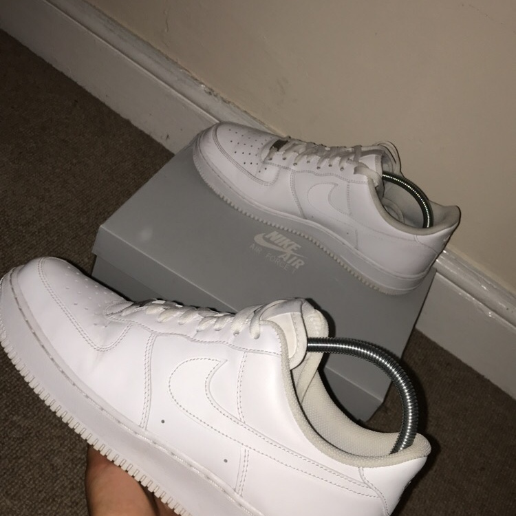 White Air Force 1s Size 10 1/2 will fit