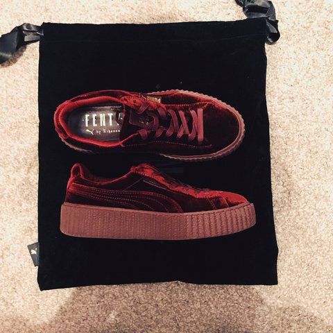 3808fcf96f0155 Red Velvet Puma Fenty. Excellent condition. Worn once due to - Depop