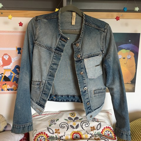 98db4e2c6 Super pretty Ted Baker jean jacket with light blue and like - Depop