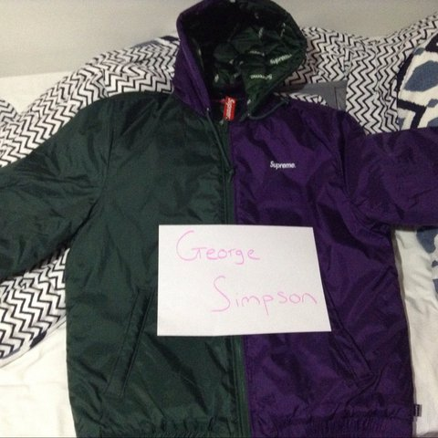1f539135c883 Supreme 2 Tone Hooded Sideline Jacket MEDIUM AND LARGE Green - Depop