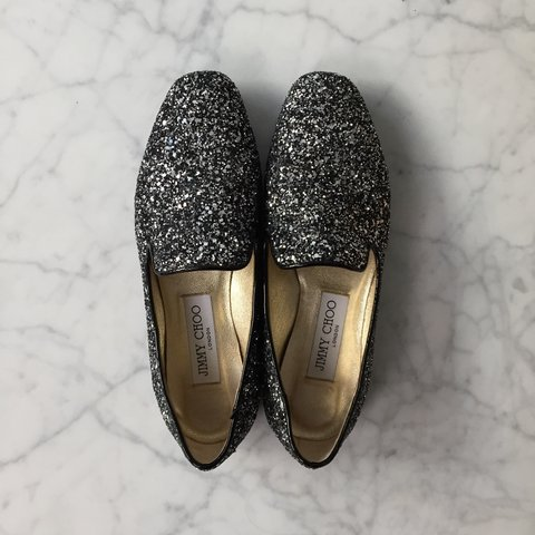 e3b411819870 Jimmy Choo Sparkly Loafers in Size 35. Mint Condition. Orig. - Depop